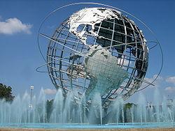 Viajes a Nueva York: La Uniesfera icono de Queens, se encuentra en el parque Flushing Meadows Corona.