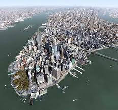 Vista aérea de la isla de Manhattan